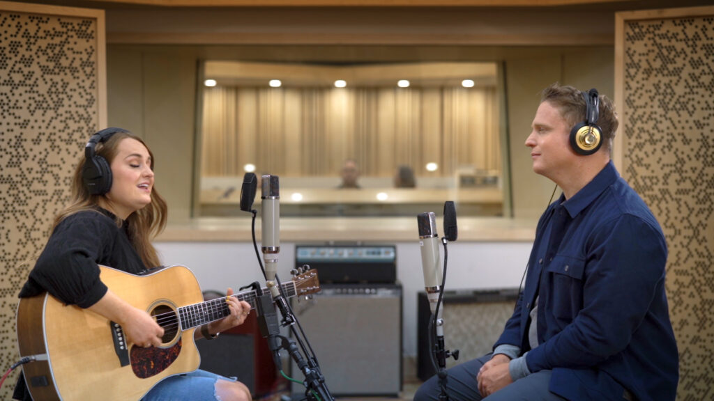 Musician Emily Bea speaks with Saints Studio Channel host Richie Steadman in the first episode of the new series produced by The Church of Jesus Christ of Latter-day Saints.