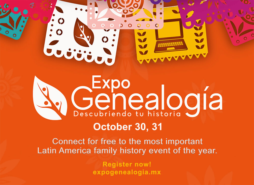 ExpoGenealogía is a free online family history event for members of the Latino community.