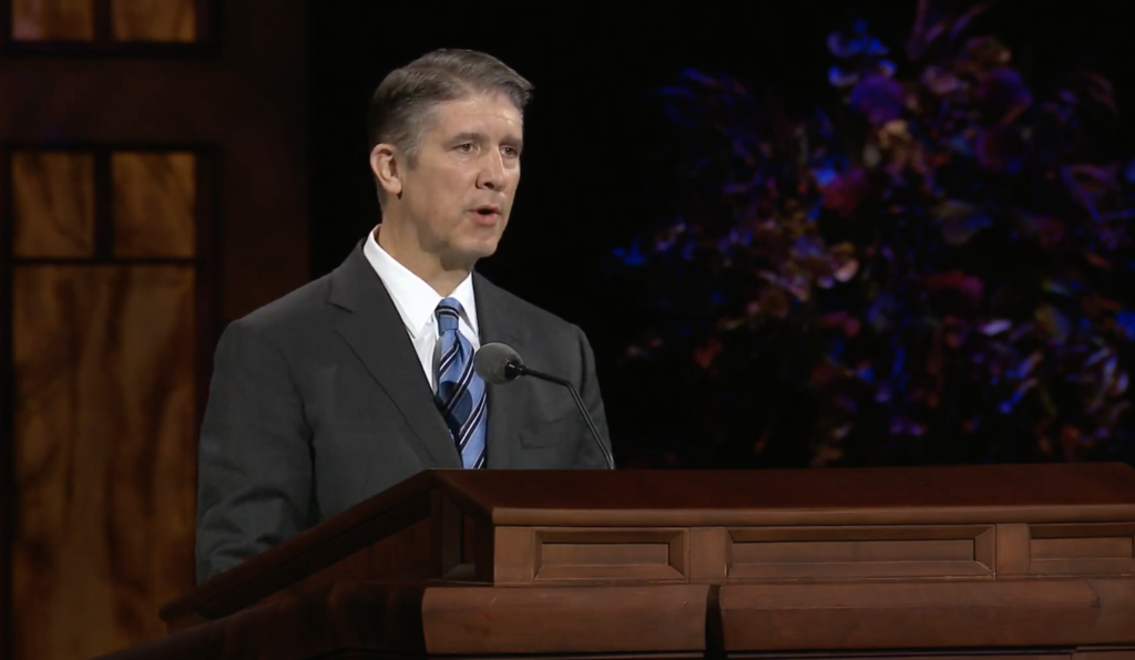 Elder Matthew S. Holland, a General Authority Seventy, speaks during the Saturday afternoon session of the 190th Semiannual General Conference of The Church of Jesus Christ of Latter-day Saints on Oct. 3, 2020.