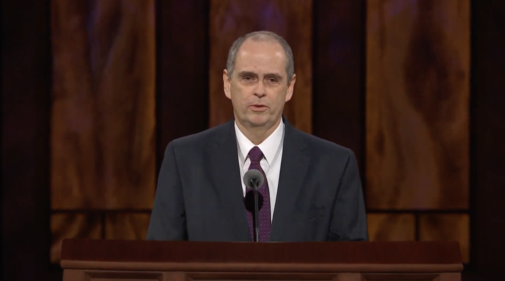 Brother Milton Camargo of the Sunday School general presidency speaks during the Sunday afternoon session of the 190th Semiannual General Conference of The Church of Jesus Christ of Latter-day Saints on Oct. 4, 2020.
