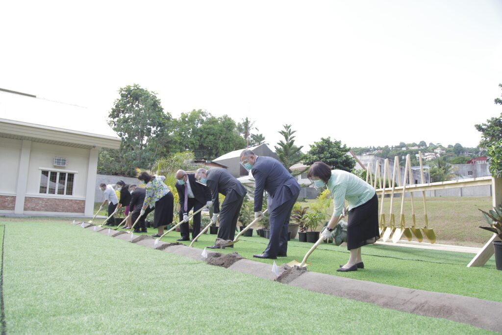 Local Church leaders in Davao, Philippines, participate in the groundbreaking of the Davao Philippines Temple on Saturday, Nov. 14, 2020. Attendance at the event was limited because of current COVID-19 social guidelines.