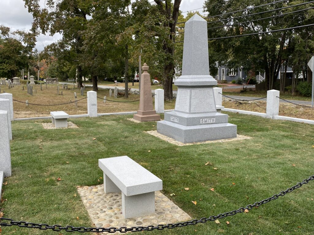 The area surrounding the 1873 Smith marker was cleaned and benches were added, with the addition of the new Smith monument in September 2020.
