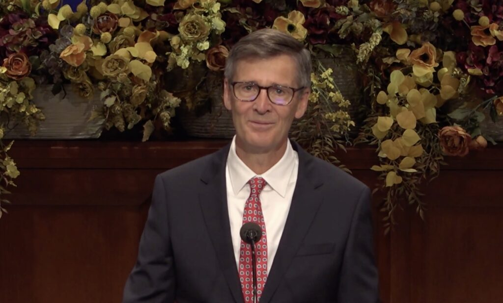 Young Men General President Steven J. Lund speaks during BYU-Idaho campus devotional on Tuesday, Nov. 10, 2020.