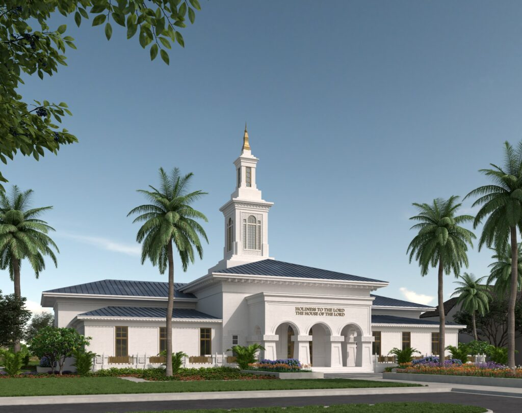 Artist's rendering of the future Pago Pago American Samoa Temple.