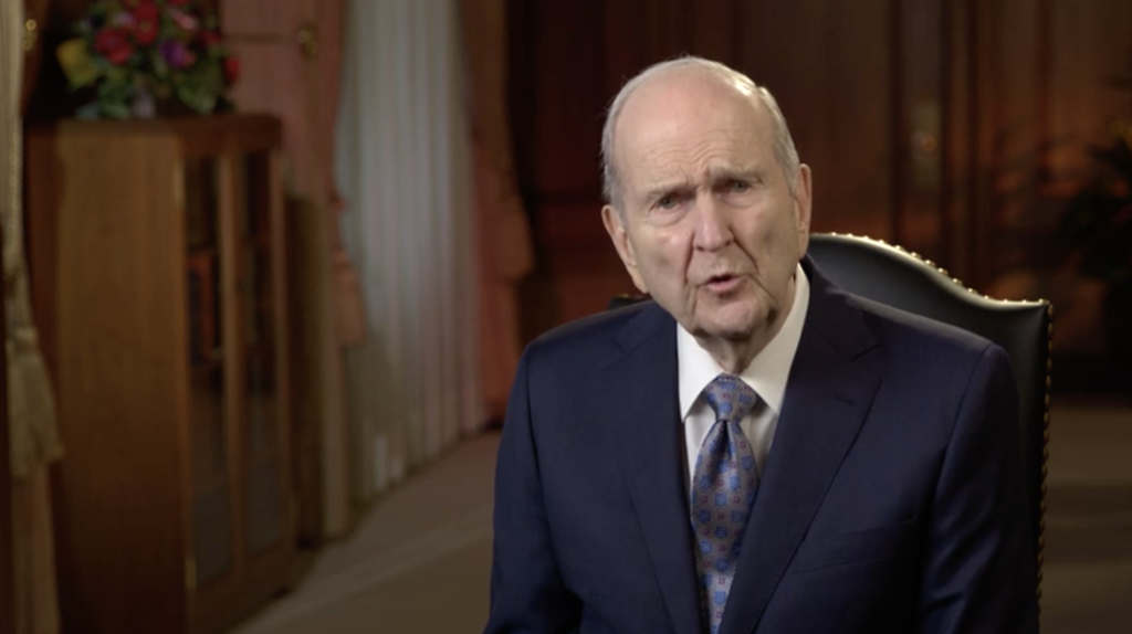 President Russell M. Nelson addressed wildfire victims in the Western United States on Sunday, Nov. 15, 2020, asking them to look forward to the future with hope.