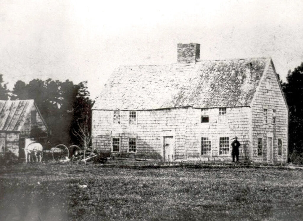 Photograph of the old Smith farmhouse in Topsfield, Massachusetts. Many of Joseph Smith's ancestors lived here.