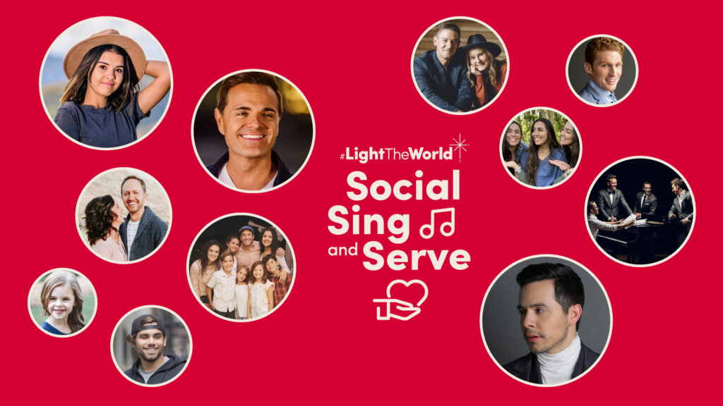 Social Sing and Serve will premiere at 6 p.m. MST on Monday, Dec. 14.