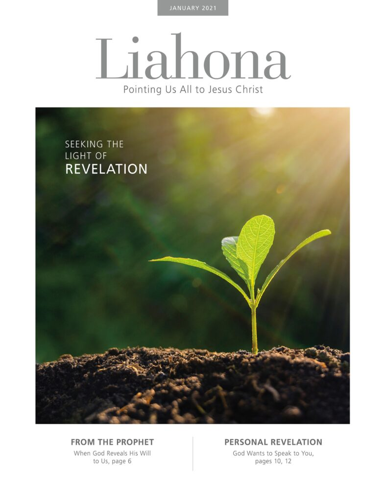 The cover of the January 2021 Liahona magazine.