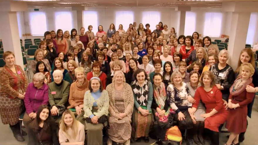 During virtual meetings with general Church leaders from Nov. 20-30, 2020, members in Russia shared photos of their service and sisterhood.