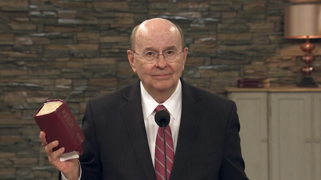 Elder Quentin L. Cook speaks during the Mexico YSA National Conference on Sunday, Nov. 29, 2020, which was held virtually.