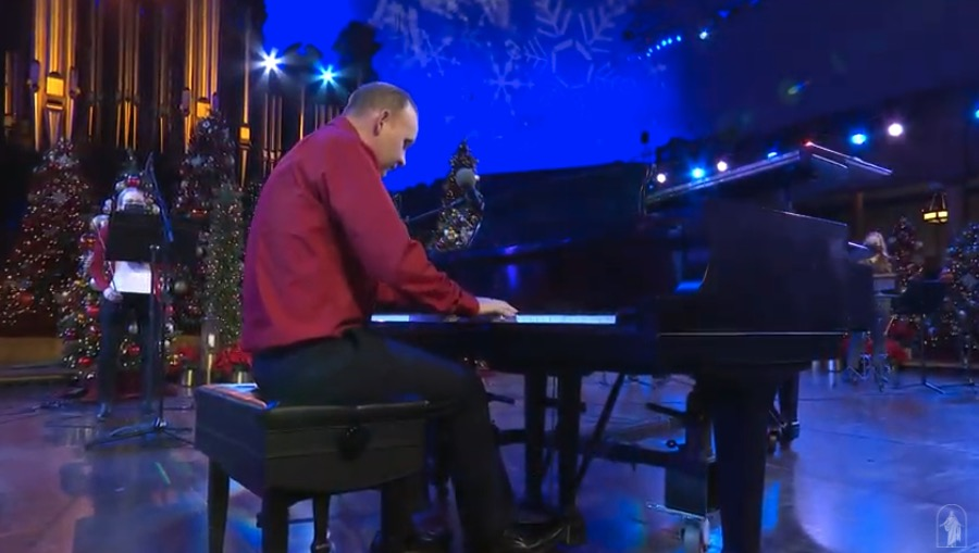 """Marshall McDonald performs """"Good King Wenceslas"""" during the virtual Temple Square concert """"Celebrating the Light of the World"""" on Tuesday, Dec. 1, 2020."""