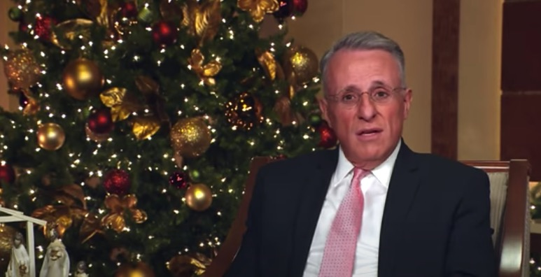 "Elder Ulisses Soares reads part of Luke 2 in Portuguese during the virtual Temple Square concert ""Celebrating the Light of the World"" on Tuesday, Dec. 1, 2020."
