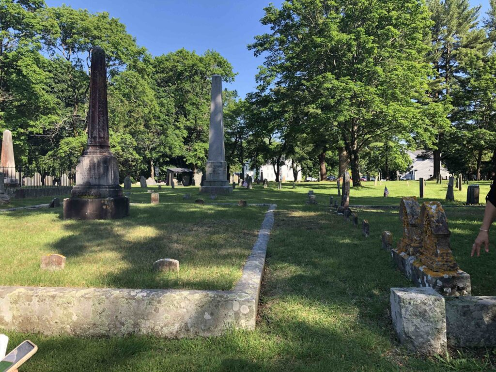 A monument honoring five generations of Joseph Smith's ancestors was placed in the Pine Grove Cemetery in Topsfield, Massachusetts, in September 2020.