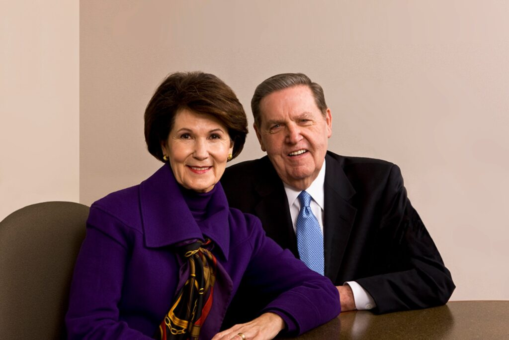 Elder Jeffrey R. Holland and his wife, Sister Patricia T. Holland.