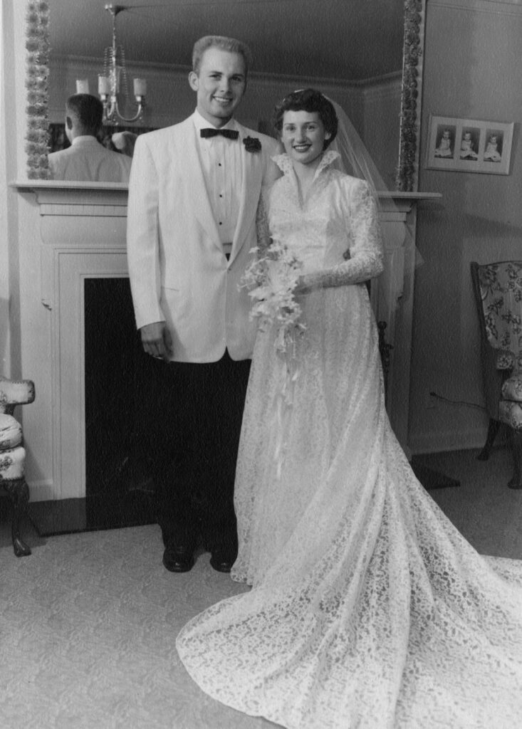 Dallin and June wedding picture