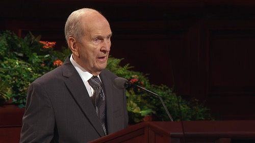 President Russell M. Nelson speaks during October 2016 general conference.