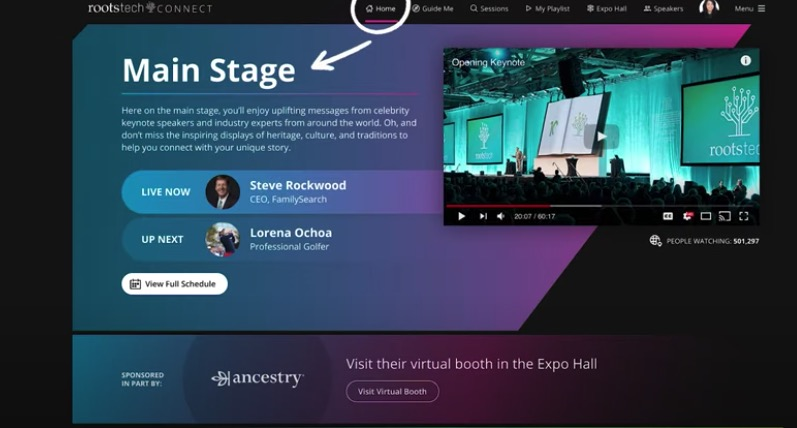 FamilySearch released a video on Feb. 22 explaining how to navigate the new RootsTech Connect online platform.