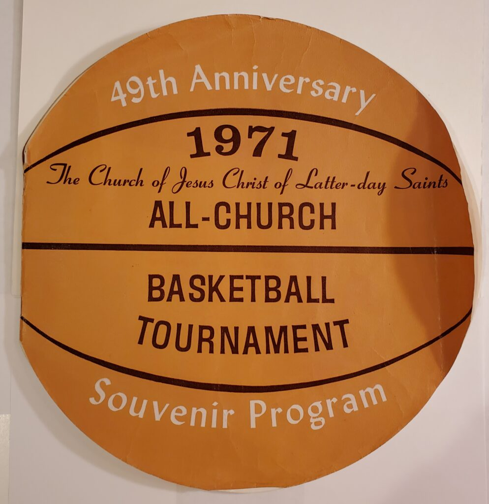 A souvenir program from the 1971 All-Church basketball tournament.