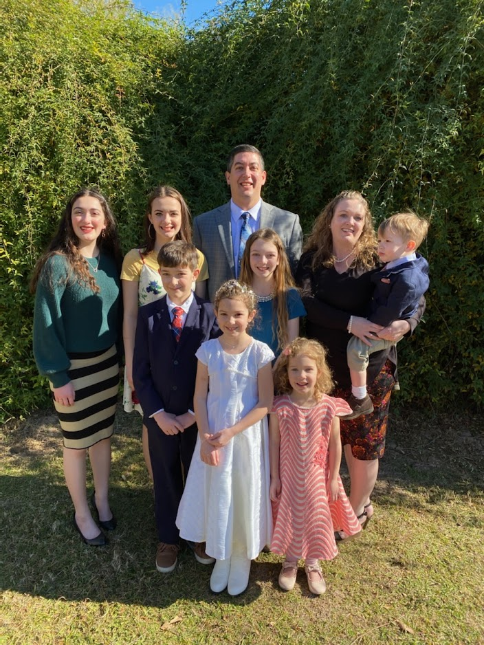 Destiny Mawson, right, with her husband, Robert Mawson, and their children are members of the Hartman Park Ward, Sammamish Valley Washington Stake