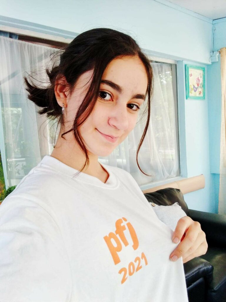 As the only young woman in her ward, Romina Martinez, 13, from Treinta y Tres, Uruguay, helped plan a stake youth activity for the youth to safely gather.