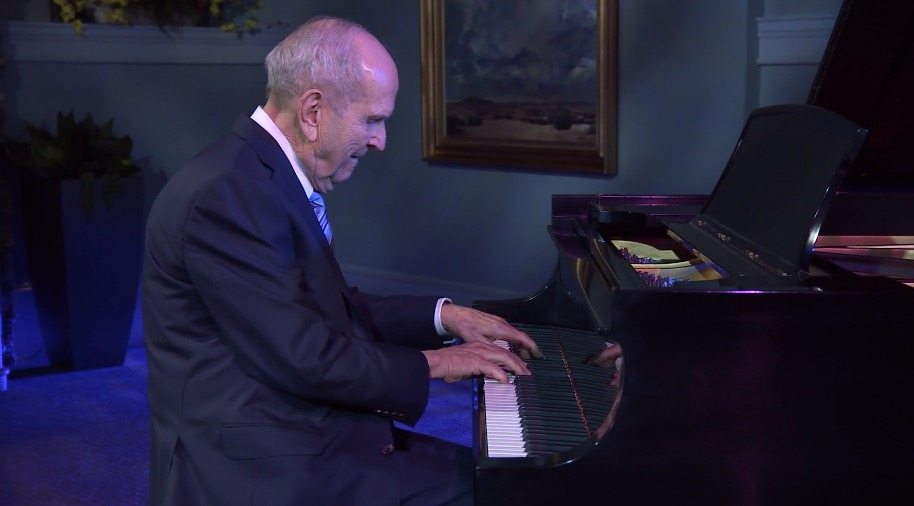 """President Russell M. Nelson performs """"Hope of Israel"""" during the Youth Music Festival on Wednesday, March 17, 2021."""