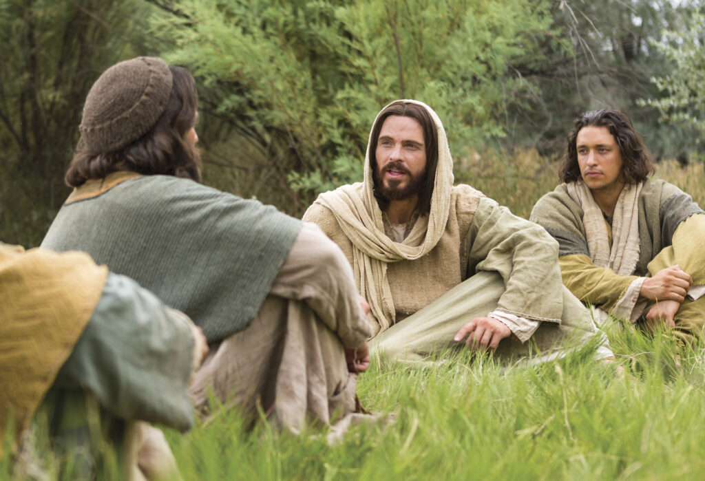 """In this scene from the Bible Videos, Simon Peter answers Christ and tells him """"Thou art the Christ."""""""
