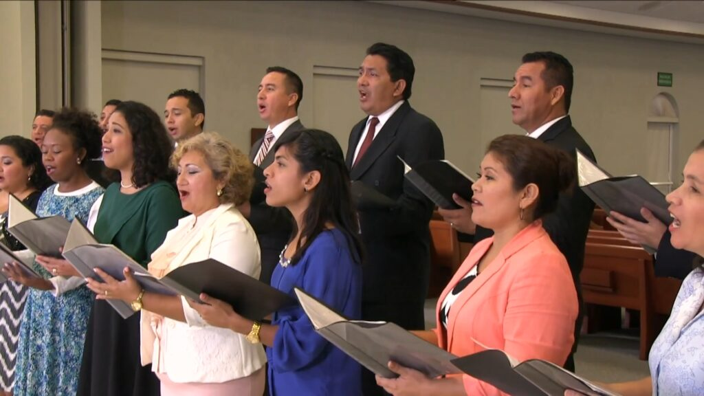 "A choir from Mexico performs ""Redeemer of Israel,"" which was broadcast during the Sunday morning session of the 191st Annual General Conference of The Church of Jesus Christ of Latter-day Saints on April 4, 2021."