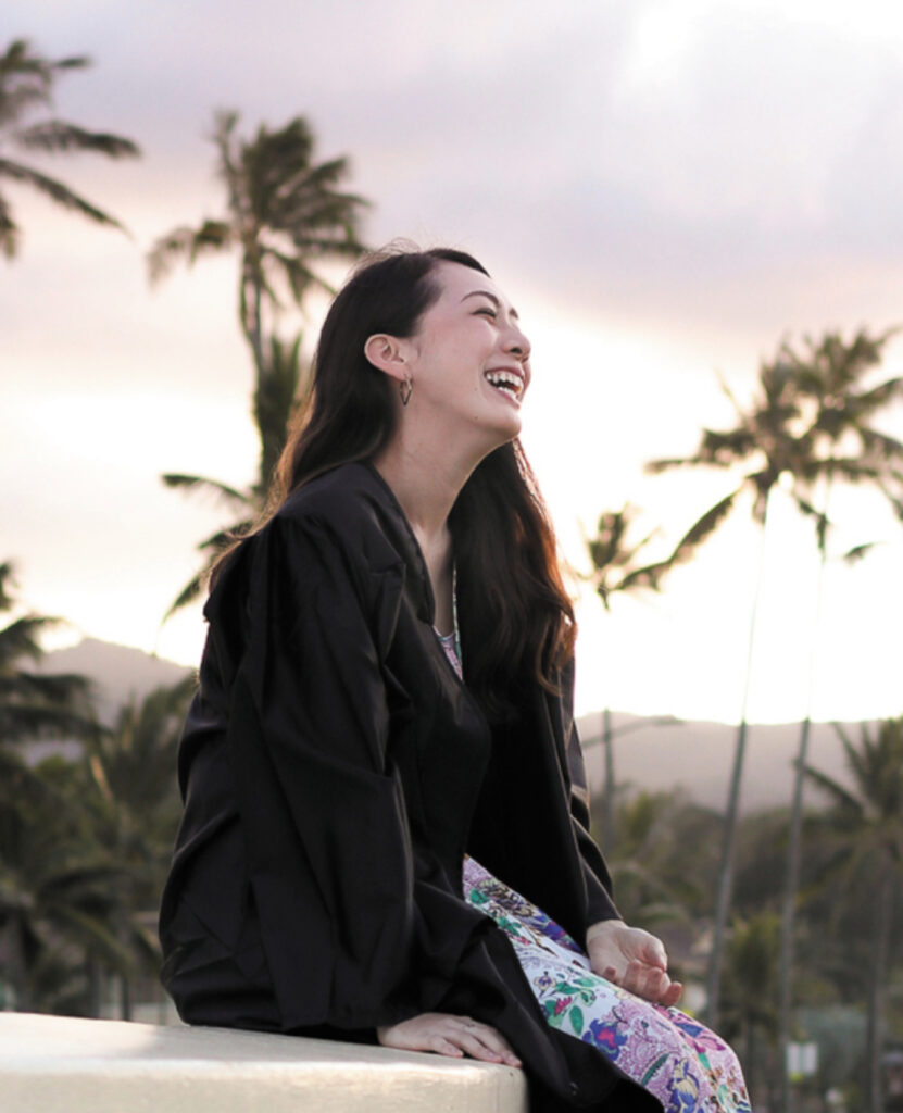 Sara Kawaguchi from Japan graduated from BYU–Hawaii on April 17, 2021, following a year of the pandemic.