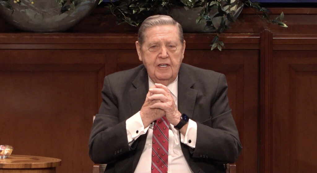Elder Jeffrey R. Holland, of The Church of Jesus Christ of Latter-day Saints' Quorum of the Twelve Apostles, delivers a missionary devotional at the Church Office Building for a future broadcast in Salt Lake City on Wednesday, March 17, 2021.