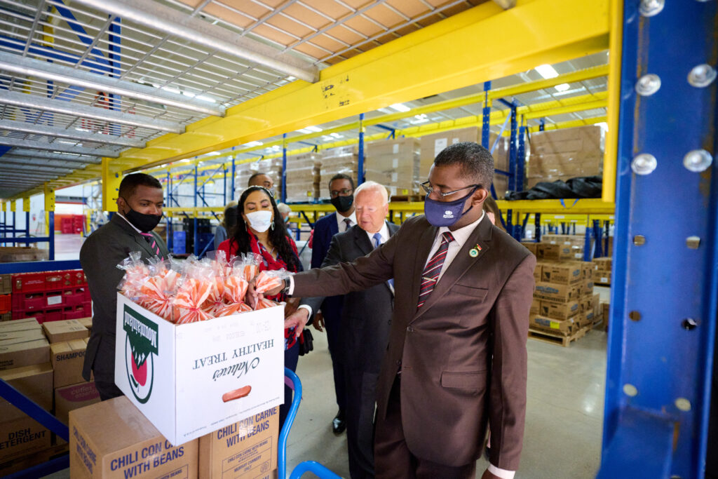 Government leaders from the Republic of the Sudan take a tour of Welfare Square in Salt Lake City on Tuesday, May 18, 2021.