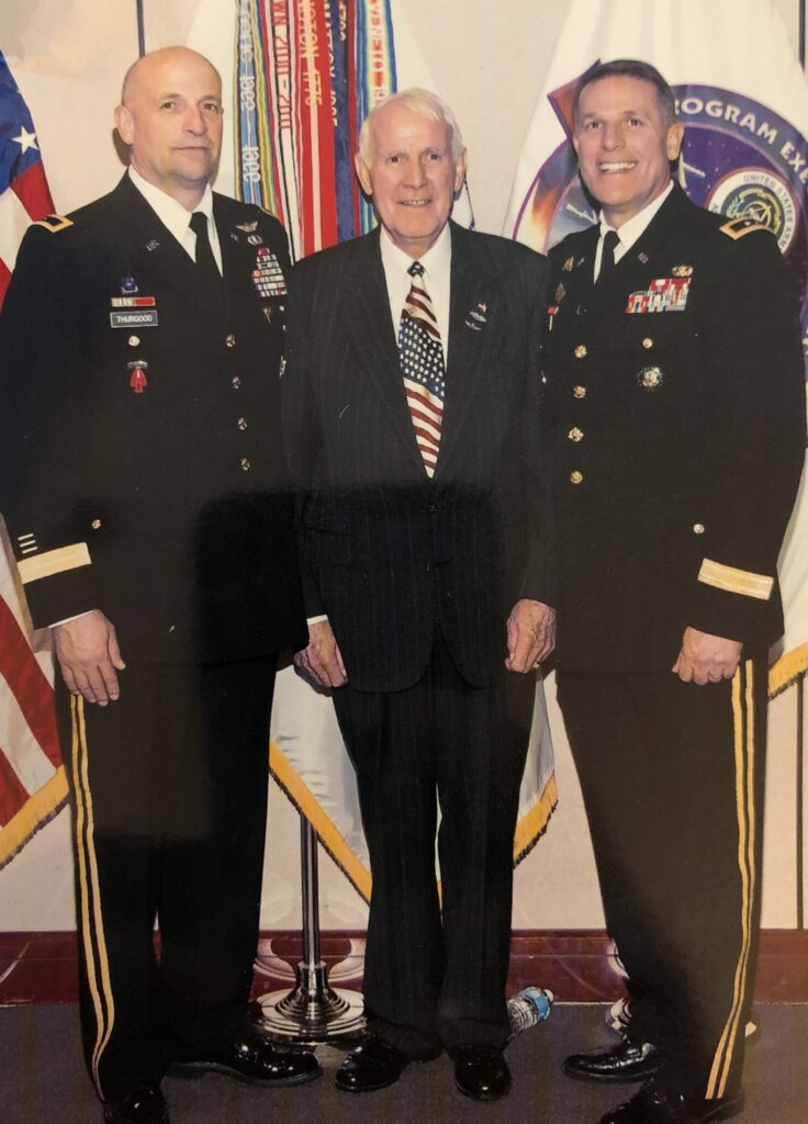 U.S. Army Lt. Gen. Neil Thurgood, left, with his father, retired Army officer Leon Thurgood, and brother, retired U.S. Maj. Gen. Keith Thurgood.
