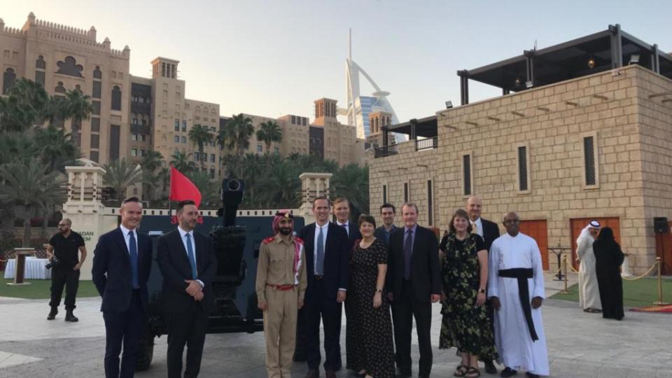 Latter-day Saints and other interfaith communities attend the firing of the Ramadan cannon to mark the end of the daily fast, followed by an iftar meal, in 2019.