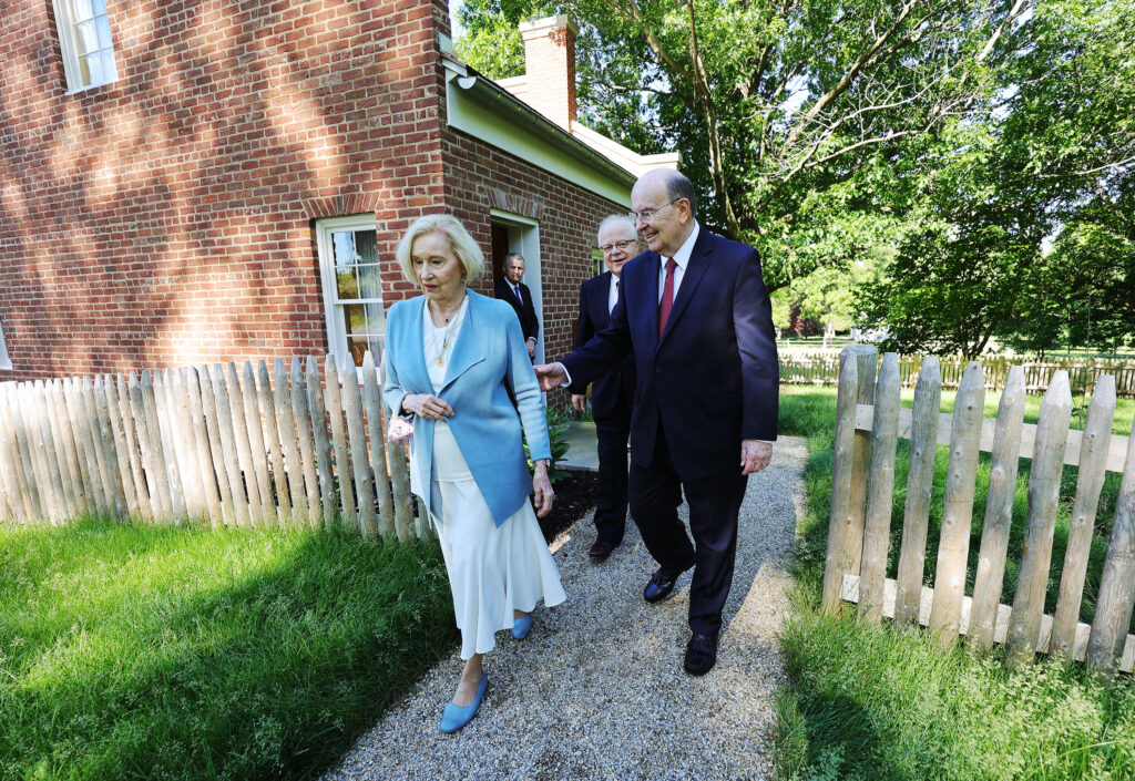 Elder Quentin L. Cook of the Quorum of the Twelve Apostles of The Church of Jesus Christ of Latter-day Saints, and his wife, Sister Mary G. Cook, tour the Temple District in Nauvoo, Illinois, on Saturday, May 29, 2021.
