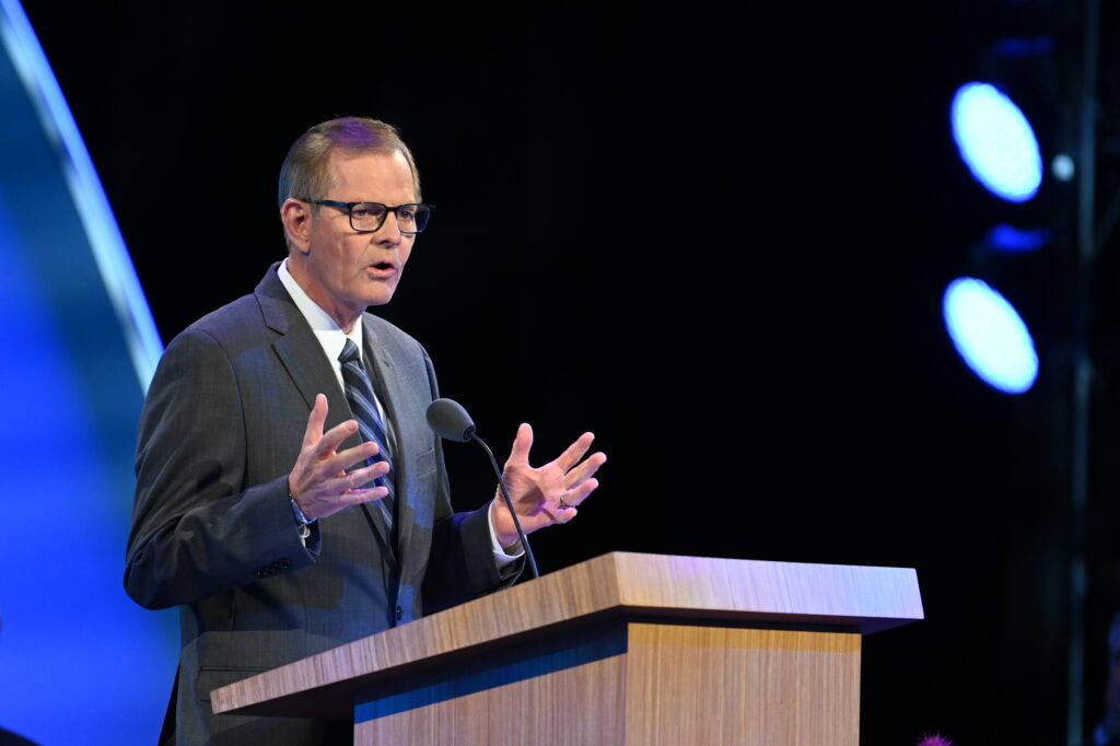 Elder Gary E. Stevenson of the Quorum of the Twelve Apostles teaches about missionary success during the 2021 Seminar for New Mission Leaders on Thursday, June 24, 2021, broadcast from the Conference Center Theater in Salt Lake City, Utah.