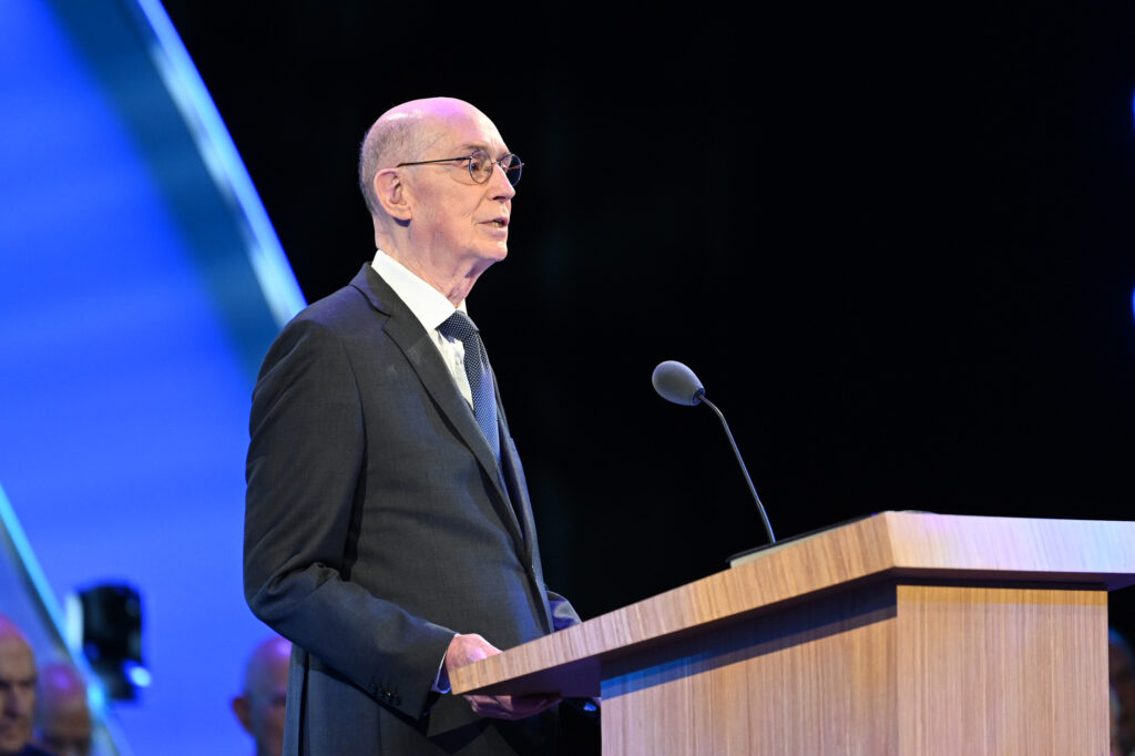 President Henry B. Eyring, second counselor in the First Presidency, speaks Saturday, June 26, 2021, at the 2021 Seminar for New Mission Leaders.