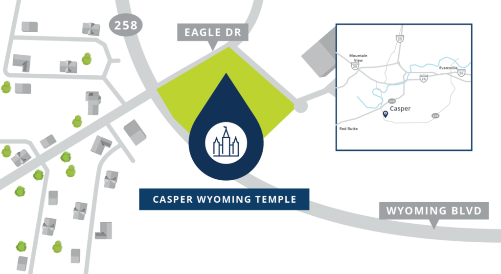 The site map for the Casper Wyoming Temple was released on Thursday, June 9, 2021.
