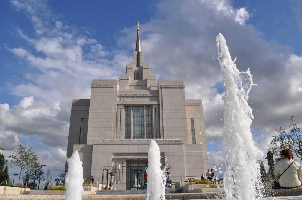 The Kyiv Ukraine Temple on the day of its dedication, Aug. 29, 2010.