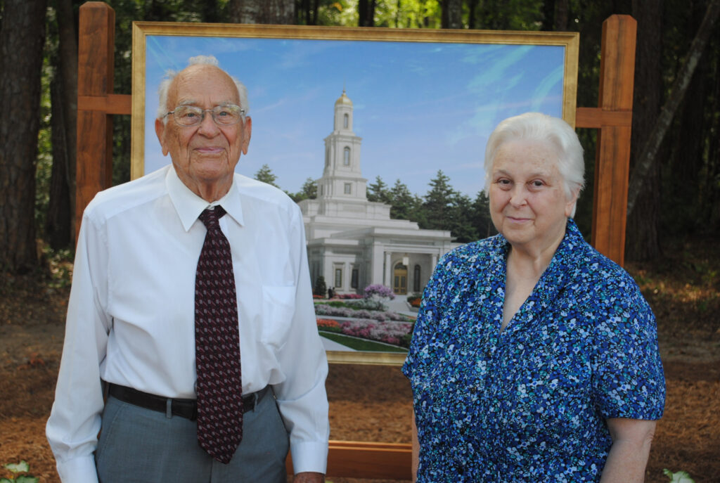 James and Christi Gray at the groundbreaking ceremony of the Tallahassee Florida Temple on Saturday, June 5, 2021.