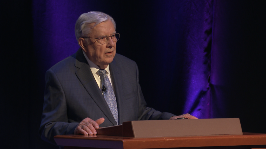 """President M. Russell Ballard, Acting President of the Quorum of the Twelve Apostles, teaches that living the principles taught in the June 26, 2021, special missionary broadcast would help """"bind ourselves to the Savior."""""""
