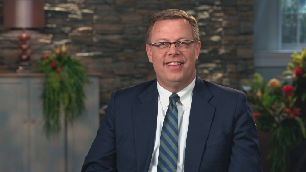 BYU–Pathway Worldwide President Clark G. Gilbert speaks during a BYU–Pathway devotional broadcast on Tuesday, June 15, 2021.