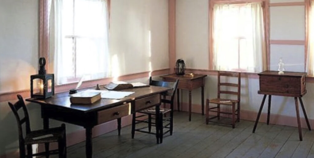 The upstairs room in the John and Elsa Johnson home in Hiram, Ohio, where Joseph Smith and Sidney Rigdon received the vision recorded in Doctrine and Covenants 76.