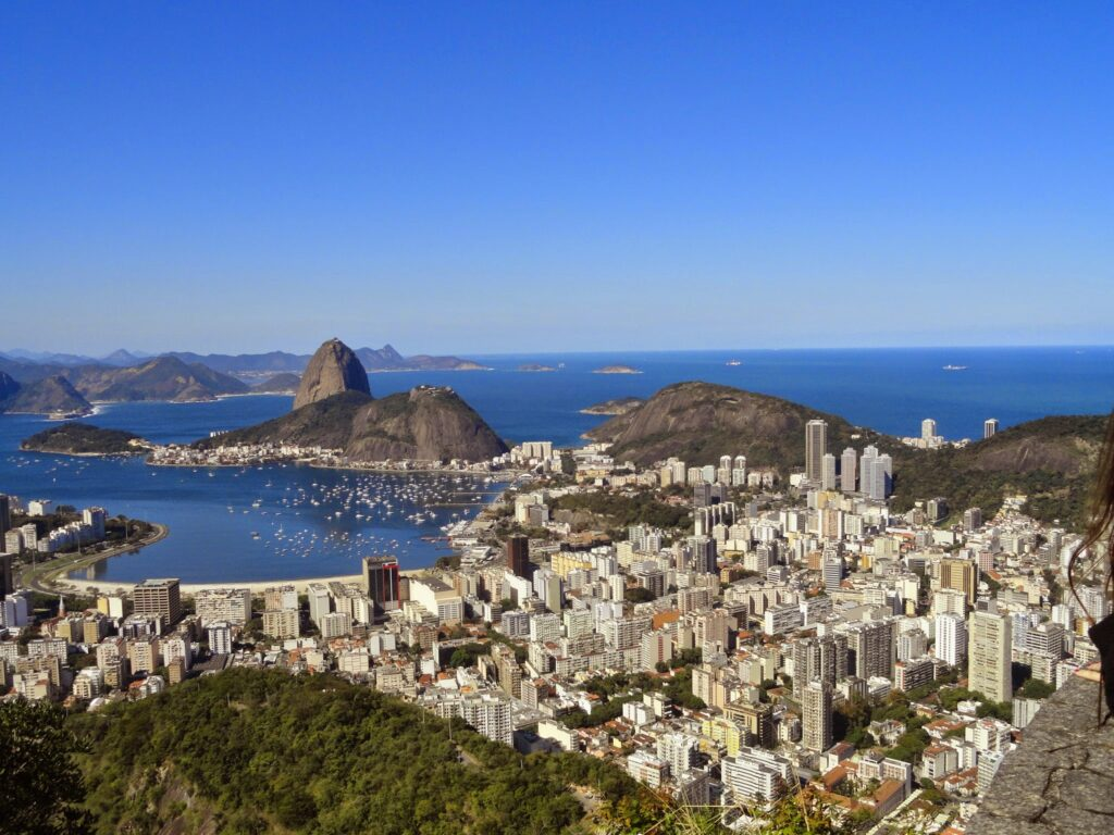 One of the many views from the statue of Christ the Redeemer, Rio de Janeiro, Brazil.