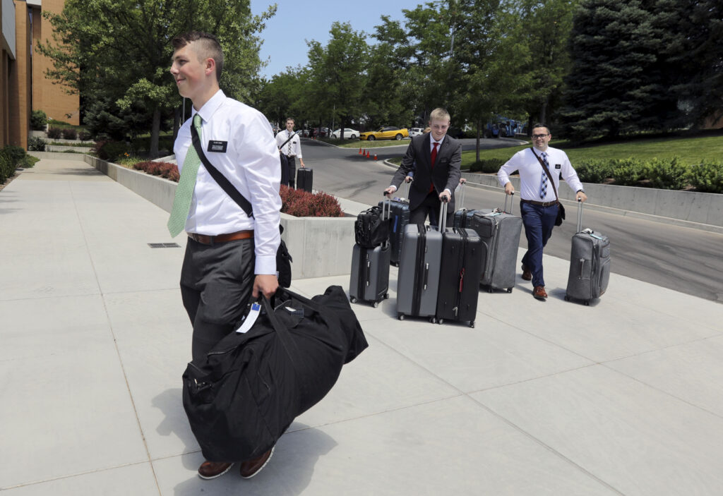 Missionaries arrive at the Provo Missionary Training Center for the first time in Provo on Wednesday, June 23, 2021 since COVID-19 closures in March 2020.