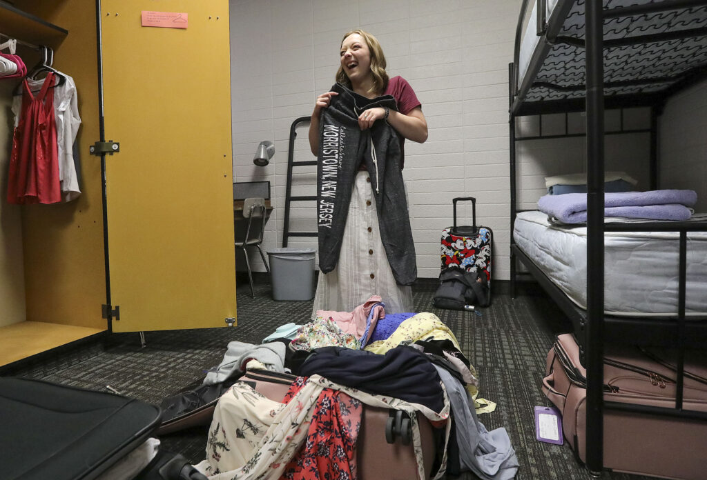 Sister Madalyn Dever, from Lehi, Utah, unpacks at the Provo Missionary Training Center in Provo on Wednesday, June 23, 2021. Sister Dever will be serving in the New Jersey Morristown Mission.