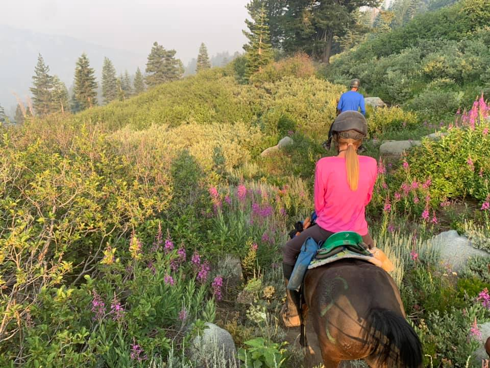 Kyla Law, 13, and her Hackney pony, Flash, cruise the scenic trail during the Western States Trail Foundation Tevis Cup 100-Mile One-Day Trail Ride on July 24, 2021.