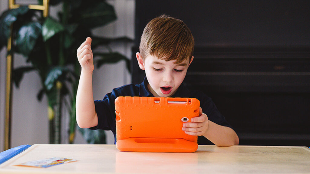 The Gospel for Kids app lets children take their gospel learning into their own hands. The app's colorful and simple design allows children to navigate it by themselves.