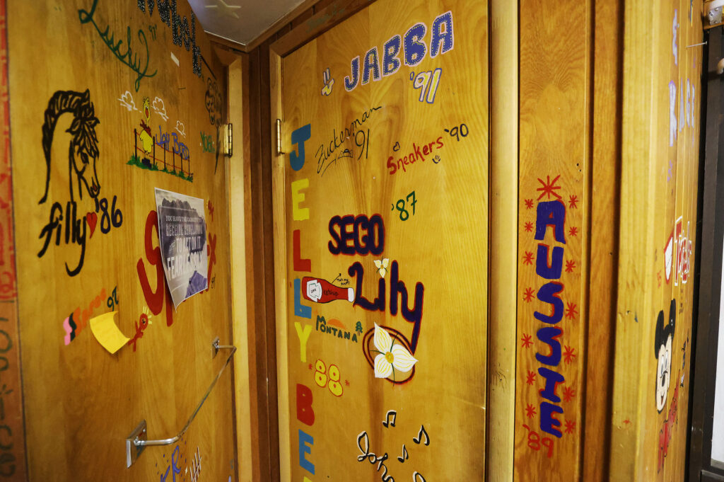 Counselors' nicknames left on the walls in a cabin at Brighton Girls Camp in Big Cottonwood Canyon on Tuesday, July 13, 2021.
