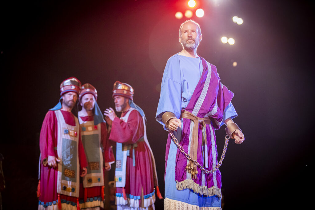A scene from the Hill Cumorah Pageant depicts Abinadi from the Book of Mormon. The pageant ran July 11-13 and 16-20, 2019, on the hillside next to the Hill Cumorah Visitors' Center in Manchester, New York.