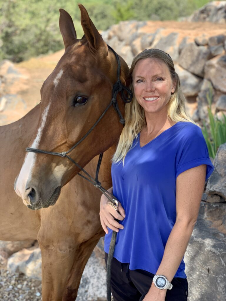 Natalie Law is pictured with Brave, her American Saddlebred.