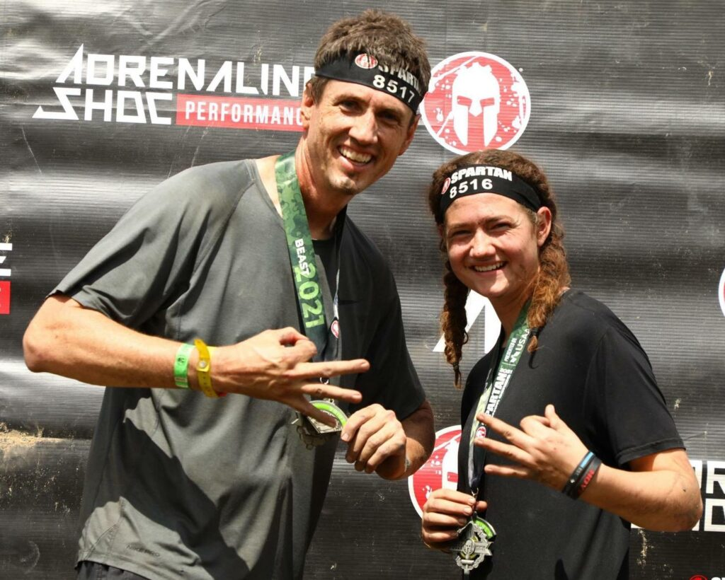 Ashton Ballou, a 17-year-old from the Hamilton Pool Ward, Austin Texas West Stake, participated in a recent Spartan race with her father, Ben Ballou. Several of the young men from Ashton's ward also competed in the grueling race.